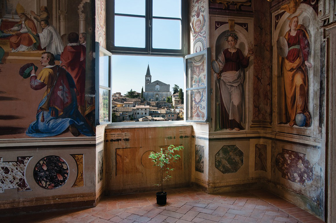 Todi – View of the Temple of San Fortunato